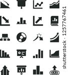 solid black vector icon set  ... | Shutterstock .eps vector #1257767461