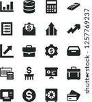 solid black vector icon set  ... | Shutterstock .eps vector #1257769237