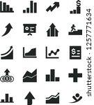 solid black vector icon set  ... | Shutterstock .eps vector #1257771634