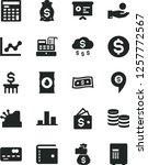 solid black vector icon set  ... | Shutterstock .eps vector #1257772567