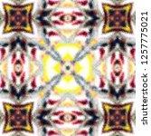 colorful kaleidoscopic pattern... | Shutterstock . vector #1257775021