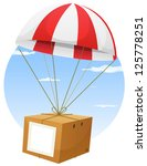 air,airmail,attached,box,cardboard,clouds,communication,crate,delivery,drop,falling,flying,freight,gift,holidays