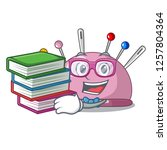 student with book pincushion a... | Shutterstock .eps vector #1257804364