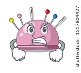 angry sewing pins and... | Shutterstock .eps vector #1257804427