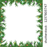 christmas 3d pine tree branches ... | Shutterstock . vector #1257805747