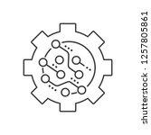 electronic mechanism. vector... | Shutterstock .eps vector #1257805861