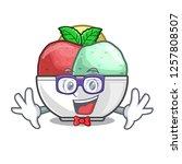geek sorbet with mint bowl on...   Shutterstock .eps vector #1257808507