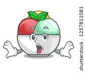 surprised scoops of sorbet in...   Shutterstock .eps vector #1257811081