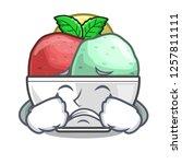 crying scoops of sorbet in...   Shutterstock .eps vector #1257811111