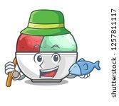 fishing scoops of sorbet in...   Shutterstock .eps vector #1257811117