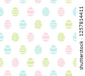 simple easter seamless repeat... | Shutterstock .eps vector #1257814411