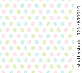 simple easter seamless repeat... | Shutterstock .eps vector #1257814414
