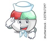 sailor sorbet ice cream in cup...   Shutterstock .eps vector #1257817297