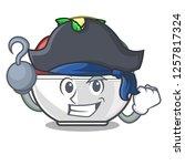 pirate sorbet ice cream in cup...   Shutterstock .eps vector #1257817324