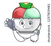 doctor sorbet ice cream in cup...   Shutterstock .eps vector #1257819481