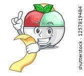 with menu scoops of sorbet in...   Shutterstock .eps vector #1257819484