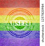 absent on mosaic background... | Shutterstock .eps vector #1257820984