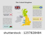 map of the uk with information... | Shutterstock .eps vector #1257828484