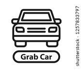 grab car icon. simple line icon.... | Shutterstock .eps vector #1257833797