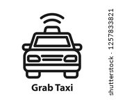 grab taxi icon. simple line... | Shutterstock .eps vector #1257833821