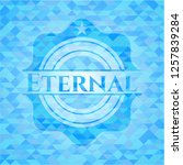 eternal light blue emblem with... | Shutterstock .eps vector #1257839284