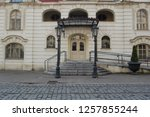 front view of beautiful old... | Shutterstock . vector #1257855244