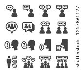 people talking icon set vector... | Shutterstock .eps vector #1257861127
