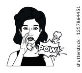 woman with speech bubble about...   Shutterstock .eps vector #1257864451