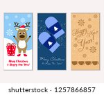 merry christmas and happy new... | Shutterstock .eps vector #1257866857