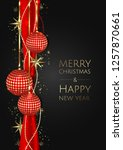 merry christmas and happy new... | Shutterstock .eps vector #1257870661