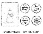 set of cute hand drawn... | Shutterstock .eps vector #1257871684