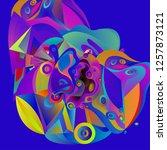 vector illustration abstract... | Shutterstock .eps vector #1257873121