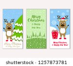 merry christmas and happy new... | Shutterstock .eps vector #1257873781
