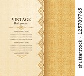 vintage background  antique... | Shutterstock .eps vector #125789765