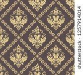 orient vector classic pattern.... | Shutterstock .eps vector #1257914014