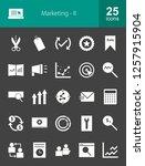 marketing glyph icons | Shutterstock .eps vector #1257915904
