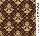 classic seamless vector pattern.... | Shutterstock .eps vector #1257918541
