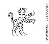 tiger heraldic animal linear... | Shutterstock .eps vector #1257920464