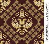 classic seamless vector pattern.... | Shutterstock .eps vector #1257923944
