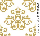 orient vector classic pattern.... | Shutterstock .eps vector #1257923947