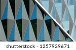 triangular windows on the... | Shutterstock . vector #1257929671