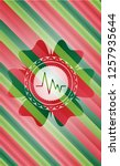 electrocardiogram icon inside... | Shutterstock .eps vector #1257935644