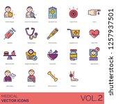 medical icons including symptom ... | Shutterstock .eps vector #1257937501
