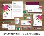corporate identity business ... | Shutterstock .eps vector #1257938887