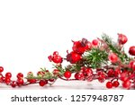 beautiful christmas background... | Shutterstock . vector #1257948787