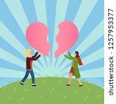 couple relationships positive... | Shutterstock .eps vector #1257953377