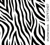 seamless pattern with zebra fur ... | Shutterstock .eps vector #1257971407