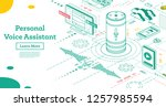 personal voice assistant.... | Shutterstock .eps vector #1257985594