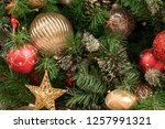 christmas tree background | Shutterstock . vector #1257991321