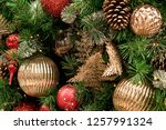christmas tree background | Shutterstock . vector #1257991324